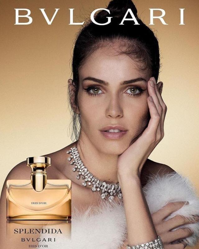 Amanda Wellsh w kampanii luksusowych perfum Bvlgari Splendida Iris d Or