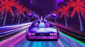 DeLorean, Car, Cyberpunk, Digital Art, Sci-Fi, 8K, #4.2047