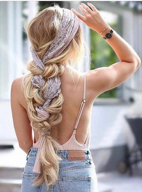 Peinados con bandanas trenza