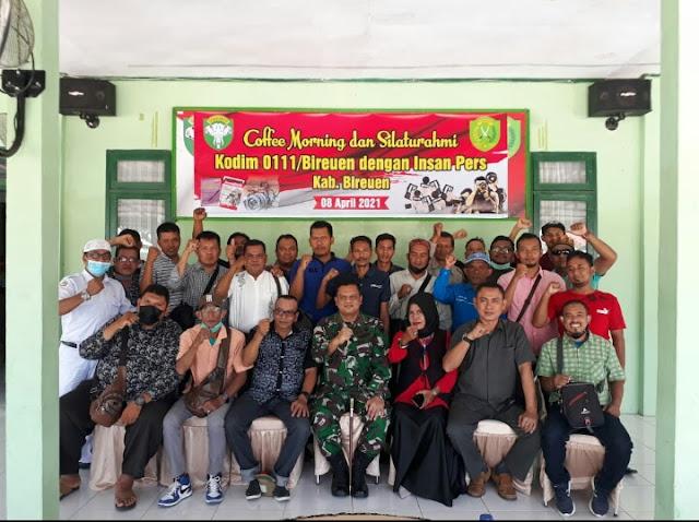 Dandim 0111/Bireuen Gelar Coffee Morning  dengan Wartawan Kabupaten Bireuen