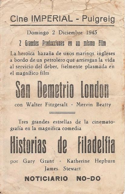 Programa de Cine - Historias de Filadelfia - Katharine Hepburn - Cary Grant - James Stewart