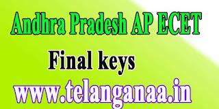 Andhra Pradesh AP ECET APECET 2017 Final keys