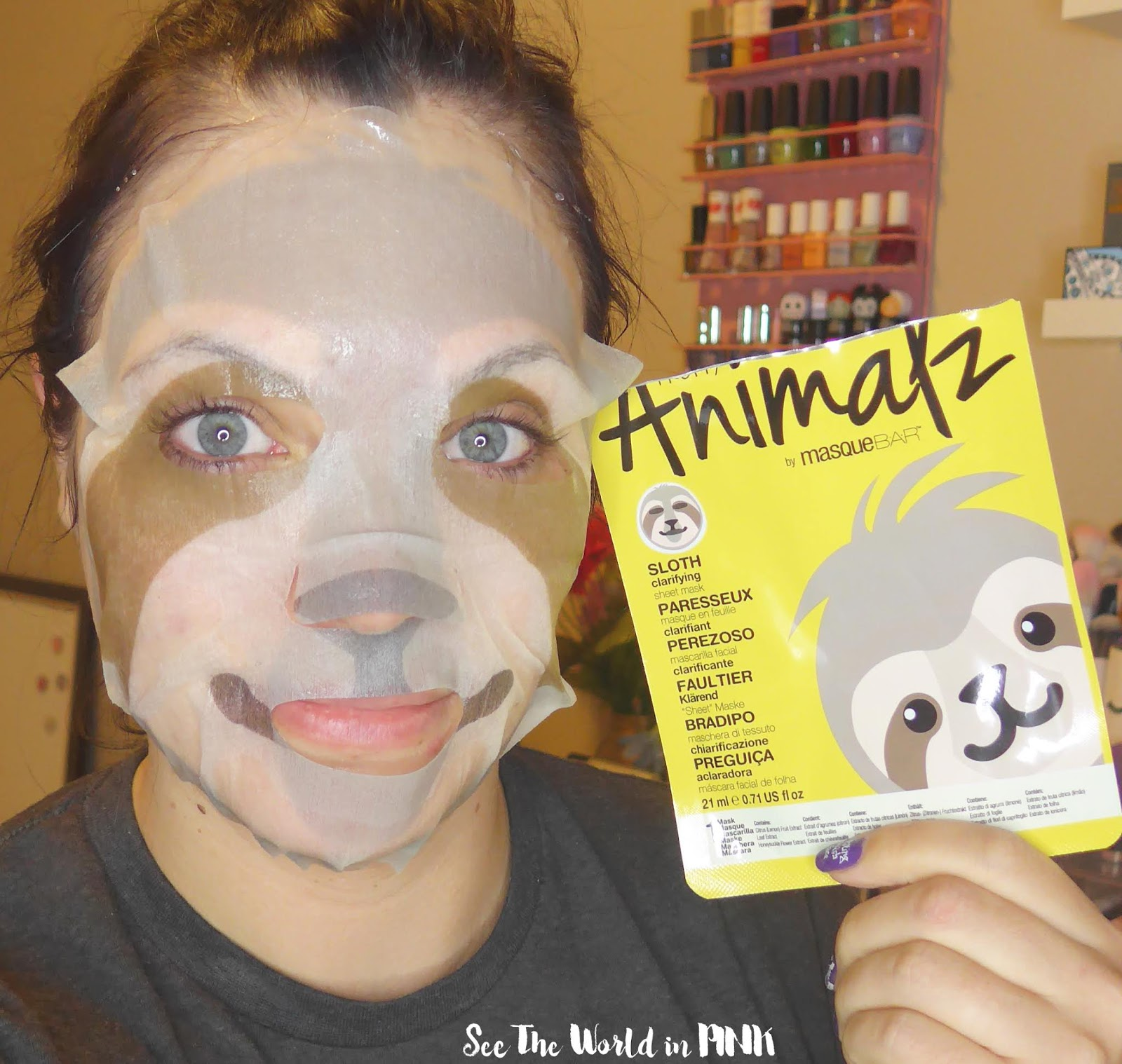 Skincare Sunday - Masque Bar Pretty Animalz Sloth Clarifying Sheet Mask