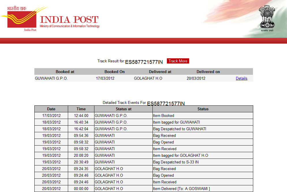 Latest Technology Info Speed Post Express Parcel