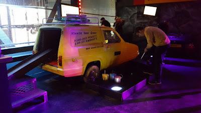 Reliant Regal Supervan at Junkyard Golf in Manchester