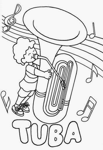 Instrumentos Mapuches Para Colorear Para Colorear Tuba Www