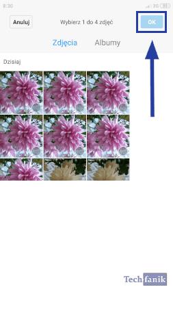 Xiaomi Wybór zdjęć do połączenia