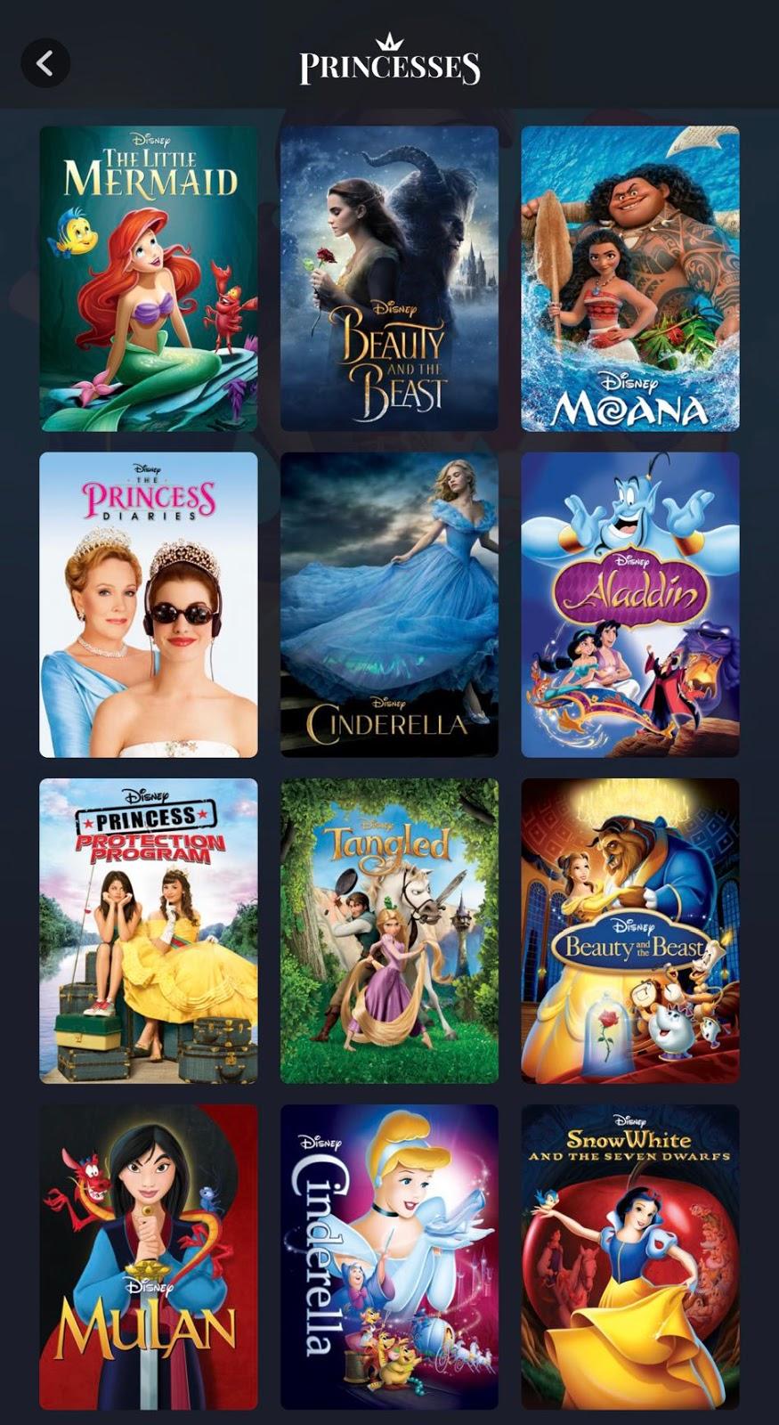 Everything Princess So Far on Disney+