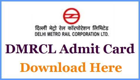 DMRC Admit Card 2020-2021
