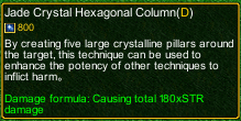 naruto castle defense 6.0 Crystal release Jade Crystal Hexagonal Columns detail