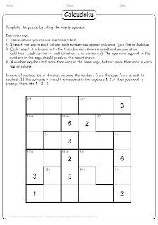 brain teaser calcudoku puzzle