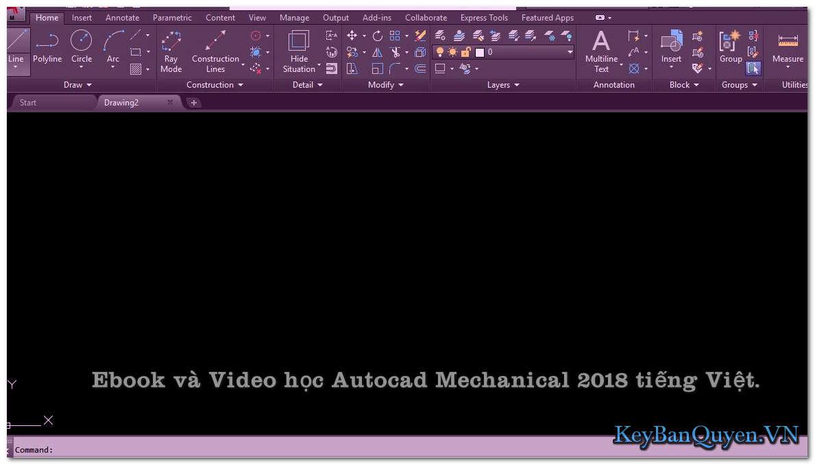 Ebook và Video học Autocad Mechanical 2018 tiếng Việt.