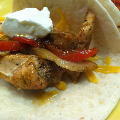 "Big Green Egg ""Baked"" Chicken Fajitas 