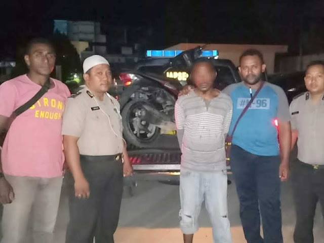 Polres Jayapura Tangkap Pria Pembawa Jaminan Motor Curian