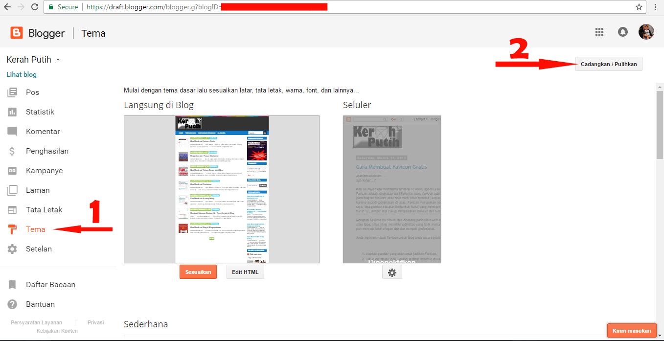 Cara Membuat Template Blog Seperti Tampilan Web Profesional | Kerah Putih