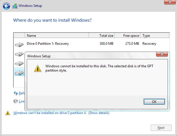 Windows bu diske yüklenemez hatası nasıl çözülür?