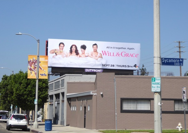 Will & Grace revival billboard