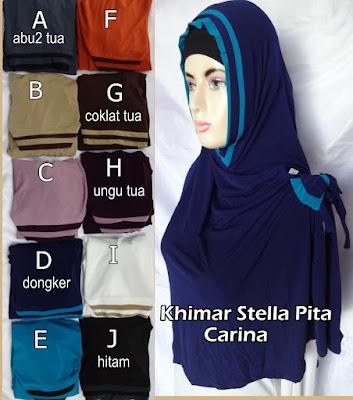 Grosir Jilbab Syiria Khimar Stella pita Carina
