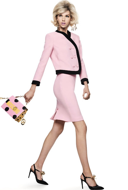 Moschino pink suit in Chanel style