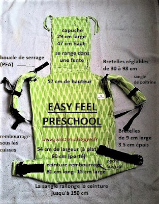 porte-enfant Easyfeel preschool record portage assise large bambin préformé babycarrier
