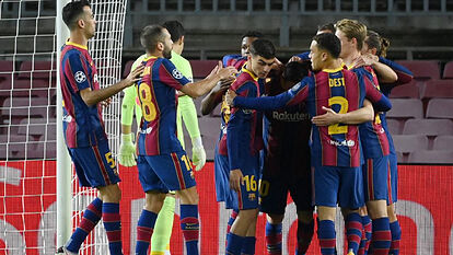 Champions League : Barcelona 2 - 1 Dynamo Kyiv  Goals and Extended Highlights