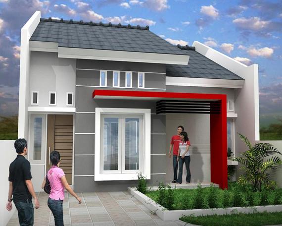 Desain rumah minimalis modern 1 lantai type 45