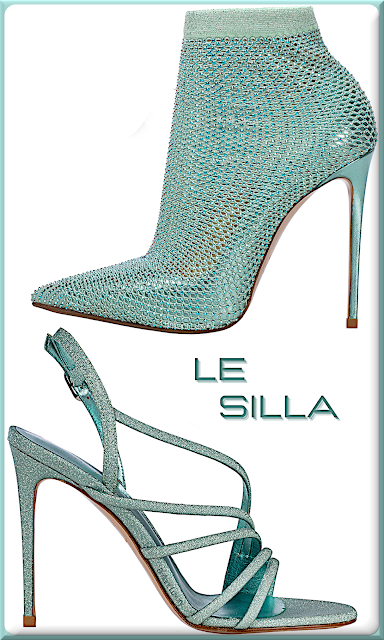 Le Silla blue marine glitter high heels #lesilla #shoes #brilliantluxury