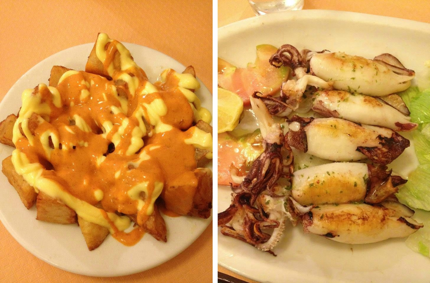 Patatas bravas & pimientos del padron