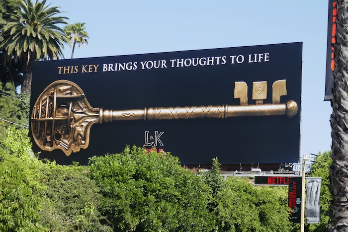 This key brings your thoughts to life Locke & Key Netflix billboard