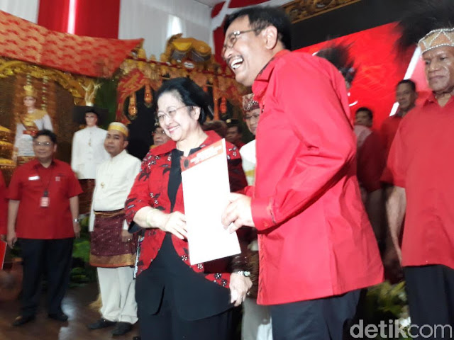 Sah! Djarot Diusung PDIP Jadi Bakal Cagub Sumut