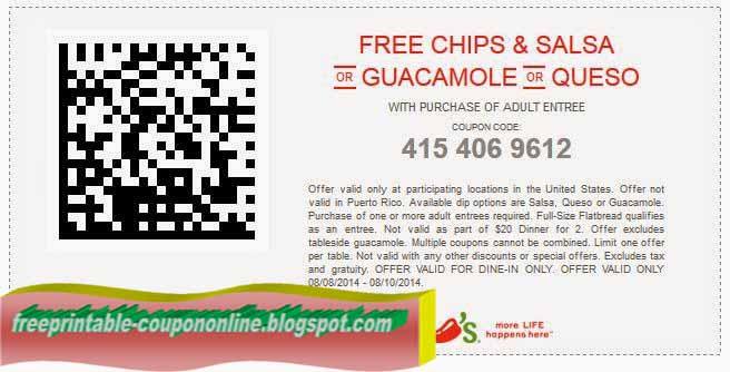 Chilis coupons