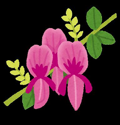 萩の花のイラスト