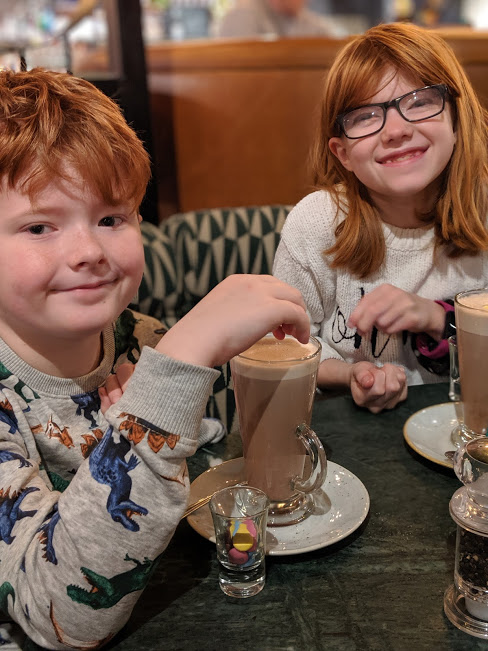 All Bar One Newcastle Brunch Review - hot chocolates