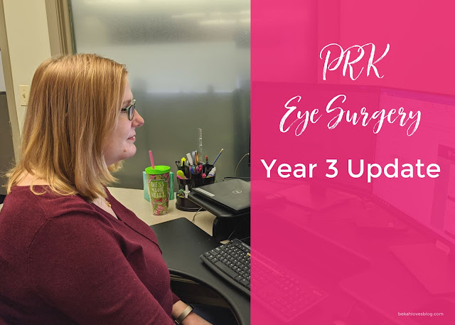 PRK eye surgery 3 year follow up