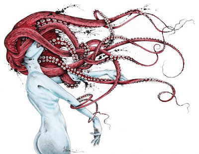 ilustrace chobotnice