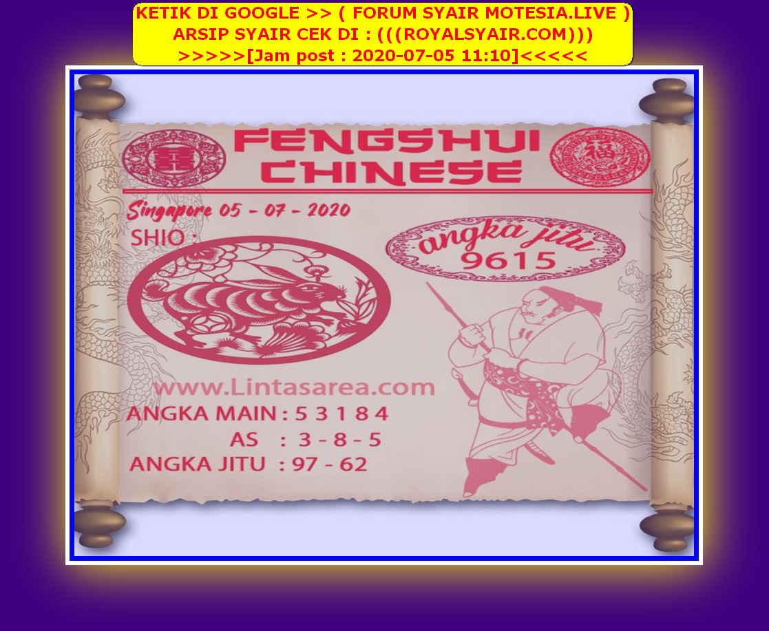 Kode syair Singapore Minggu 5 Juli 2020 170