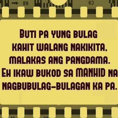 Manhid Quotes - Tagalog Simple Quotes Image | Pinoy Trend