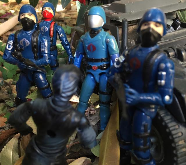 1983 Cobra Commander, Black major, Cobra Trooper, Viper Pilot, Stinger, Vypra, 1998, 1984