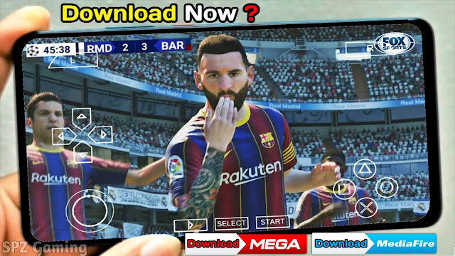 PES 2021 Mobile Android Offline Best Graphics [600MB] New Menu Face Kits & Full Transfers