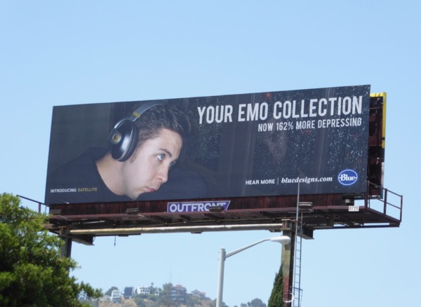 Emo Blue Satellite headphones billboard