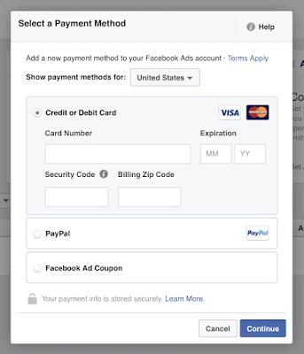 إضافة طريقة دفع جديدة للحساب الإعلاني