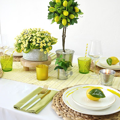 A Lemon Themed Tablescape for Summer