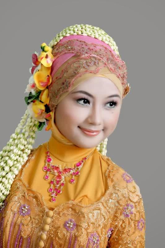 Jilbab pengantin simple