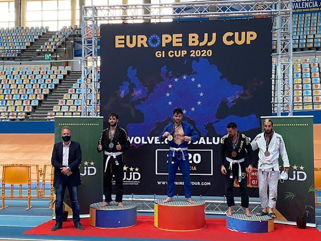 Juan Francisco Tormos, Campeón de Europa en el Campeonato de EUROPE BRAZILIAN JIU - JITSU CUP 2020