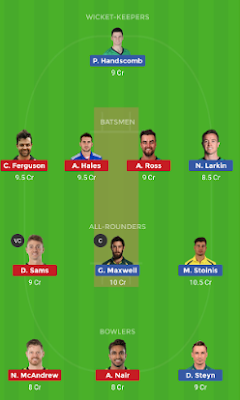 THU vs STA dream 11 team | STA vs THU