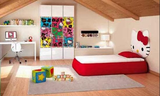 Desain Kamar Tidur Anak Perempuan Terbaru 2014
