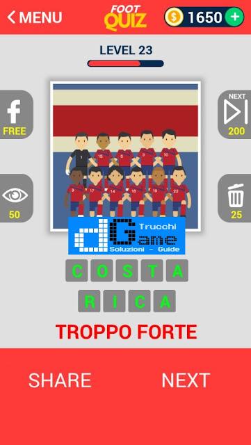 FootQuiz Calcio Quiz Football ( TEAM) soluzione livello 21-30