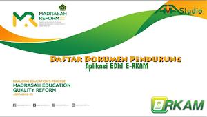 Daftar Dokumen Pendukung Aplikasi EDM dan eRKAM Online Tahun 2021