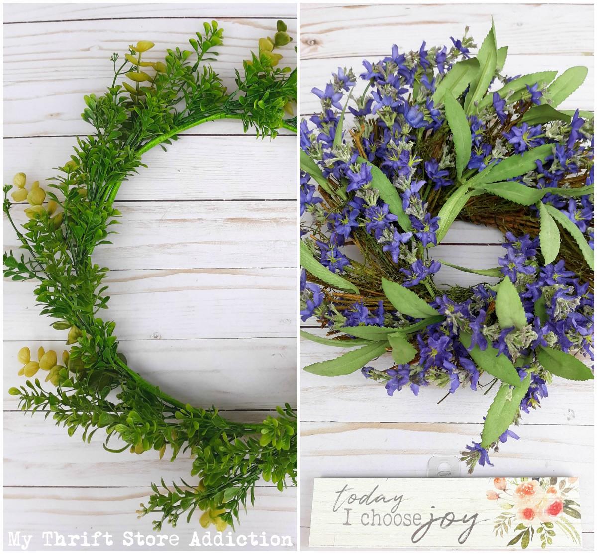 DIY layered wreath