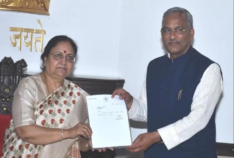 रावत ने राज्यपाल को सौैंपा इस्तीफा.
